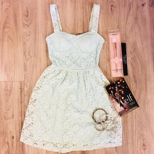 🆕 Charlotte Russe Mint Lace Dress size small.